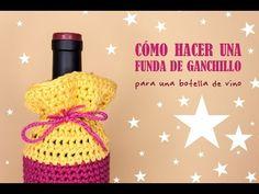 Cómo hacer una funda para botella de vino   Crochet wine bottle cover