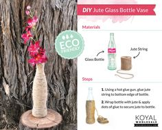 DIY Jute Glass Bottle Vase « The Daily Design by Koyal Wholesale