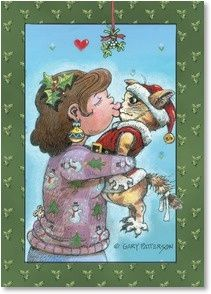Gary Patterson Cats christmas   Christmas wishes with lots of hugs and kisses! - ...   Art : Kitty Ca ...