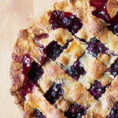 Blueberry Pie Recipe Desserts with fresh blueberries, granulated sugar, corn starch, salt, unsalted butter, pie crust, egg whites, water