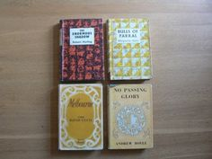 A collection of four vintage World Books: 1) No Passing Glory by Andrew Boyle 1957 2) Bulls Of Parral by Marguerite Steen 1956 3) The Enormous Shadow by Robert Harling 1956 4) Melbourne Lord David Cec