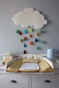 trocador com decoração parede