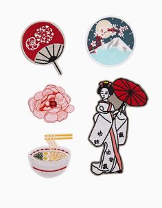 Patches for Japan Cool Patches, Pin And Patches, Iron On Patches, Embroidery Patches, Machine Embroidery, Kawaii, Cool Pins, Stickers, Pin Badges