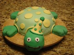 how to make a turtle cake