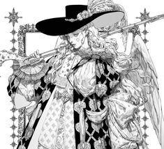 Manga Character Drawing ArtStation - Angel with a Harquebus Concept Drawing, . Character Illustration, Illustration Art, Dark Fantasy Art, Pretty Art, Aesthetic Art, Storyboard, Manga Art, Cool Drawings, Art Sketches