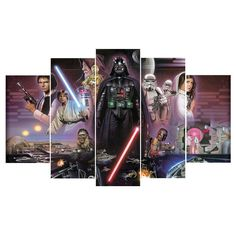 Classic Star Wars 5 Piece Canvas Limited Edition