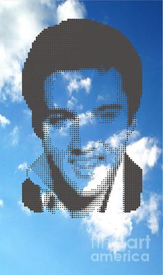 Elvis On Clouds by Rodolfo Vicente Sky And Clouds, Superhero Logos, Wall Art, Beauty, Movies, Cosmetology