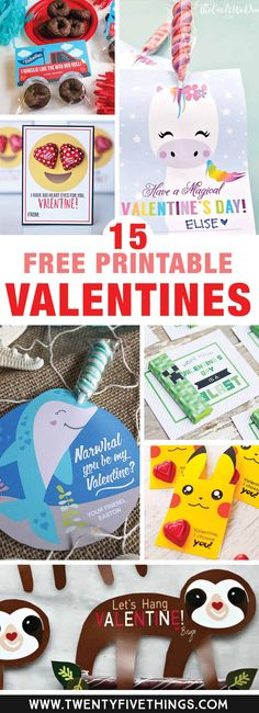 The sloth is beyond cute, but really all of these free printable Valentines for kids are perfect for my kids classroom Valentines. The printables are perfect for people like me who wait until the last minute! They& so easy to print at home. Kinder Valentines, Valentine Gifts For Kids, Valentines Day Activities, Valentine Box, Valentines Day Party, Valentine Day Crafts, Valentines Ideas For Preschoolers, Cute Valentines Day Ideas, Valentine Theme