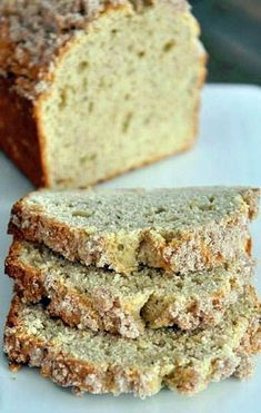 Cream Cheese Banana Bread with Sweet Cinnamon Topping. It tastes more like a pound cake than banana bread, but still quite edible. Super Moist Banana Bread, Make Banana Bread, Banana Bread Recipes, Pie Recipes, Sweet Recipes, Walnut Bread Recipe, Walnut Recipes, Cream Cheese Bread, Cream Cheeses