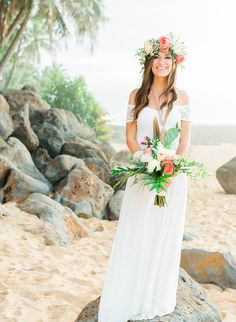 Coachella Inspired Elopement in Hawaii - Inspired By This