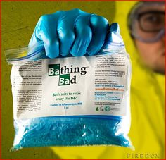 Breaking Bad Bath Salts Geek Gift this is so bad ass yo!!