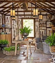 Quite possibly the most beautiful tool shed I've ever seen