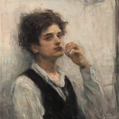 Available for sale from Gallery Ron Hicks, Smooth Operator II Oil, 20 × 20 in Portrait Art, Portraits, Renaissance Kunst, Classical Art, Art Plastique, Anime Comics, Aesthetic Art, Traditional Art, Figurative Art