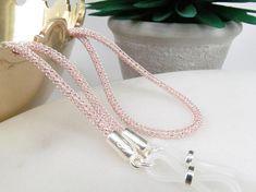 Rose Gold and Silver Mesh Glasses Chain; Reading Glasses Holder N Scarf Jewelry, Bracelet Making, Silver Bracelets, Handmade Jewelry, Beaded Necklace, Rose Gold, Etsy, Reading Glasses, Money