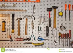 Tools On Pegboard - Download From Over 63 Million High Quality Stock Photos, Images, Vectors. Sign up for FREE today. Image: 22573926
