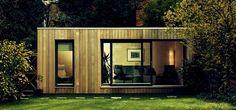 Small Prefab Homes - Prefab Cabins: Contemporary Modular Garden Studios by Ecospace Garden Office Shed, Backyard Office, Outdoor Office, Garden Sheds, Small Prefab Homes, Prefab Cabins, Tiny Homes, Contemporary Garden Rooms, Contemporary Office