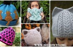 Fun Kitty Cat Hat Knitting Patterns Free and Paid