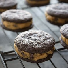 Homemade Peanut Butter Cookie Dough Oreos - incredible!!