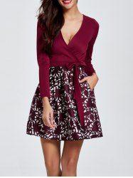 Diseño Vestido floral Sobrepelliz bolsillo