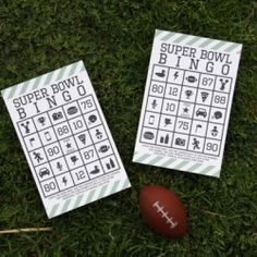 super-bowl-bingo ( free printables) to keep the ki. super-bowl-bingo ( free printables) to keep the kids entertained at your Super Bowl party. Free Printable Bingo Cards, Bingo Card Template, Free Printables, Party Printables, Card Templates, Super Bowl Party, Bingo For Kids, Super Bowl Sunday, Super Healthy Recipes