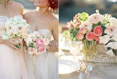 Shabbychic - love the stronger dusky pink with the peaches and greens