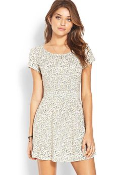 Fit & Flare Floral Cutout Dress | Forever 21 Canada