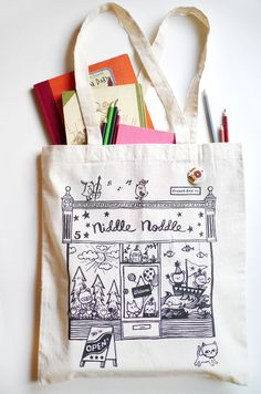 Niddle Noddle Tote bag