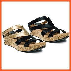 e08bc53620e Modzori Alexa Women s Mid Wedge Reversible Twister Sandal (9M) - Sandals  for women (