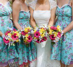 Gorgeous Vintage Bridesmaids dresses Photos by mckenzie brown photography