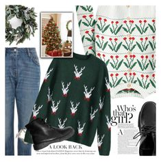 """Merry Christmas!"" by vanjazivadinovic ❤ liked on Polyvore featuring Topshop, polyvoreeditorial and zaful"