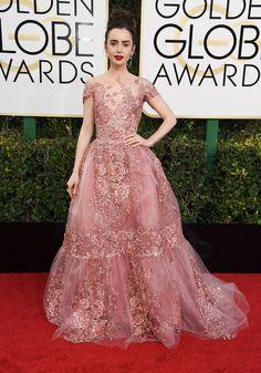 Lily Collins aux Golden Globes 2017