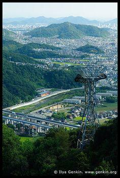 Himeji. View from Mount Shosha, Hyogo Prefecture, Kansai region, Honshu Island, Japan  by ILYA GENKIN / GENKIN.ORG