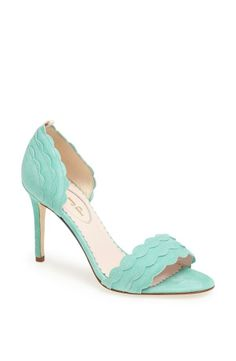 In love with this mint, scalloped SJP sandal.