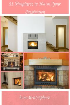 Here's a terrific photo gallery of 53 fireplaces that will warm your inspiration - modern, traditional, brick and other fireplace designs.