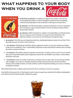 What happens to your body when you drink a coca cola.