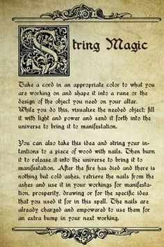String Magick