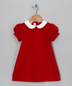 Red Velvet Dress - Toddler
