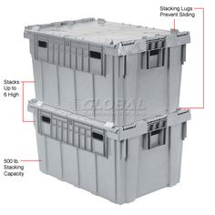 Buckhorn Distribution Container With Hinged Lid 34x24x19 5/8 - Pkg Qty 3 | 422109 - GlobalIndustrial.com $111.95 ea