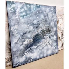 """285 Likes, 9 Comments - Andrea Hibler ARTIST Munich (@art_hibler) on Instagram: """"😀 abstract waterfall out of a Mountain- Hello Austria 😉 80x80cm . . . . . #abstract #art…"""""""
