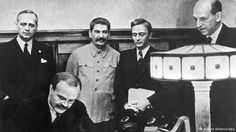 World War II in Europe: On August 23, 1939, Germany and the Soviet Union agreed to the Molotov-Ribbentrop Pact, which effectively agreed to carve up Poland between the two countries. Germany started WWII when it invaded Poland a few days later on September 1, and the Soviets then invaded from the east. Stalin would come to rue the day he trusted Hitler because Germany invaded the Soviet Union less than 2 years later under Operation Barbarossa.