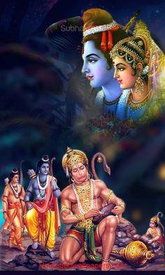 Rama Lord, Lord Hanuman Wallpapers, Bhakti Song, Sita Ram, Jai Hanuman, Lord Mahadev, Shiva Art, Indian Gods, Hinduism