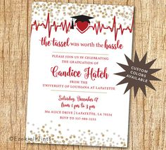 nursing graduation party invitations