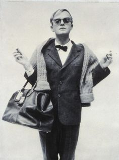 Truman Capote ready for the catwalk.
