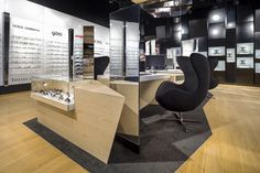 Trendy by Vision Express optician saloon by EMKWADRAT Architekci, Lodz – Poland Visual Merchandising, Optical Shop, Branding, Design Furniture, Stores, Poland, Studio, Chair, Table