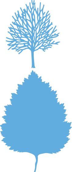 Lr0375 Creatable Tiny's tree and leaf - Marianne Design Creatables - Mallen - Hobbynu.nl