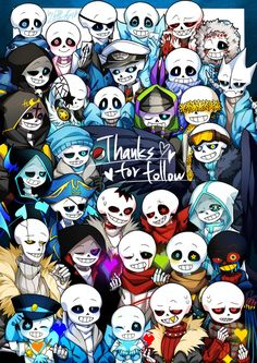 This is so cool a bunch of sans