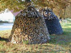 freestanding firewood stacks