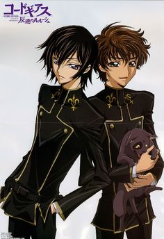 Code Geass- Lelouch, Suzaku, and lets not forget Arthur!