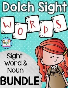 dolch nouns; nouns; sight words; dolch words; spelling; dolch spelling; dolch sight words; primer sight wordsThis set gives your students six different ways to practice each of the 220 Dolch sight words and the 95 nouns on the Dolch Noun list.