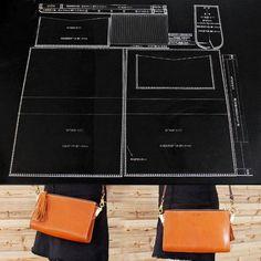 Women's Single Shoulder Bag Acrylic Template Leather Pattern Set Craft Hobby C1026